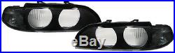 2 VITRE PHARE AVANT BLACK SX BMW SERIE 5 E39 TOURING 520 d 11/1995-08/2000
