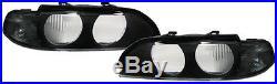 2 Vitre Phare Avant Noir Sx Bmw Serie 5 E39 Touring Techno Design 11/1995-08/200