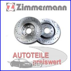 2 Zimmermann Disques de Frein Sport avant BMW E39 520 523 525 530 i + Touring