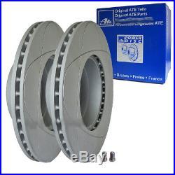 2x ATE Power Disc Disques de Frein Avant BMW 5er E39 Limousine Touring