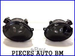 2x Antibrouillard Avant M M2 M3 E46 Bmw Série 3 Berline Break Touring Noir Fume