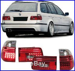 5ER BMW E39 97-04 Kombi Touring LED RÜCKLEUCHTEN ROT KLAR