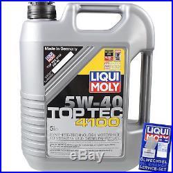 8 L LIQUI MOLY 5W-40 huile moteur + sct-filter BMW Série 5 Touring E39 525Tds