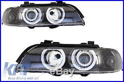 Angel Eyes Scheinwerfer BMW 5er E39 Sedan Touring 96-03 Schwarz 5986726E XINO TU