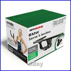 Attelage BMW Serie 5 berline 95- col de cygne + Faisceau uni 7 broches NEUF BEST