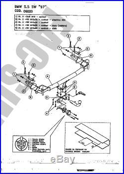 Attelage Démont +7B Faisceaux pour BMW 5 Ser Touring Break A39 2001-04 06020 A2