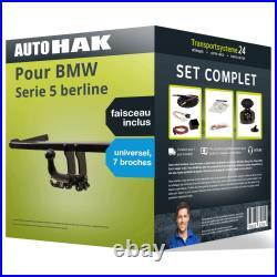 Attelage pour BMW Serie 5 berline 00- Amovible Auto Hak + Faisceau u. 7 broches
