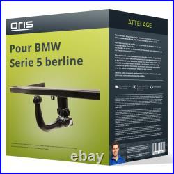 Attelage pour BMW Serie 5 berline type E39 démontable sans outil Oris ABE TOP