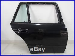 BMW Série 5 E39 TOURING Porte arrière droite côté passager Cosmos Noir métal. +