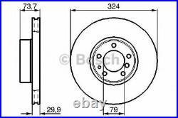 BOSCH Disques de Frein avant & Plaquettes + Capteur pour BMW 5 Touring (E39) 530