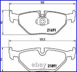 BREMBO Essieu Arrière Disques de Frein + Set Plaquettes Pour BMW 5 Touring E39