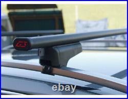 Barres Clop Acier + Coffre Spark 480 Bmw Série 5 Touring 1995-2009 Avec Railing