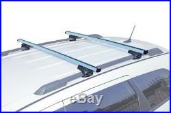 Barres De Toit Aluminium pour BMW 5 Touring (E39) 1997-2004 avec rails surélevés