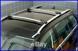Barres de toit argent pour BMW Serie 5 E39 Touring 97-03 longitudinales ouvertes