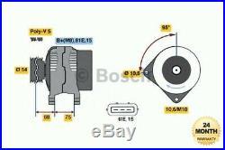 Bosch Alternateur Neuf Unité pour BMW 5 Touring 525d 2000-2004