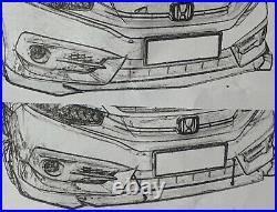 Charbon Peinture Spoiler Avant Éclat Pour BMW 5er Touring Diffuseur Aileron