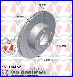 Disque de frein avant ZIMMERMANN PERCE 150.1284.52 BMW 5 Touring E39 530 d 184c