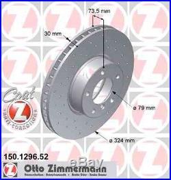 Disque de frein avant ZIMMERMANN PERCE 150.1296.52 BMW 5 Touring E39 530 d 193ch