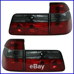 Feux Arrière Verre Transparent pour BMW E39 Touring Année Fab. 97-04 Rouge/Noir