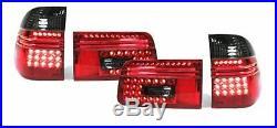 Feux arrières à LED fumé rouge pour BMW Série 5 E39 Touring Wagon 97-04