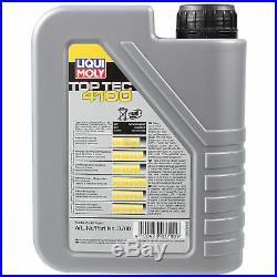 LIQUI MOLY 7L Toptec 4100 5W-40 huile moteur + Mann Pour BMW 5er Touring