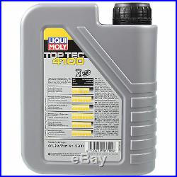 LIQUI MOLY 7L Toptec 4100 5W-40 huile moteur + Mann Pour BMW 5er Touring E39