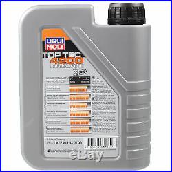 Liqui Moly 6L Toptec 4200 5W-30 Huile + Filtre pour BMW 3er E46 Touring E39 LN