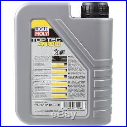 Liqui Moly 7L Toptec 4100 5W-40 L'Huile de Moteur + Filtre pour BMW 5er Touring