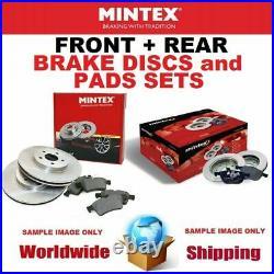 MINTEX Avant + Arrière Frein Disques + Coussinets pour BMW 5 Touring (E39) 520 I