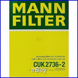 Mann-Filter Paquet Air Intérieur Huile BMW 5er E39 M 4.9 535i 540i Touring
