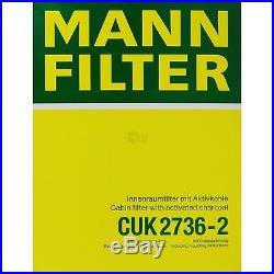 Mann-Filter Paquet Air Intérieur Huile Carburant BMW 5er E39 540i 535i Touring