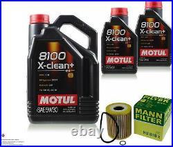 Motul 7L 5W-30 L'Huile De Moteur + Mann-Filter pour BMW E46 330d 330xd Touring