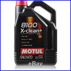 Motul 8 L 5W-30 Huile Moteur + Mann-Filter pour BMW 5er E39 530i 520i Touring
