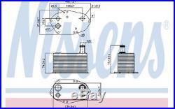 NISSENS Radiateur d'huile 90786 pour BMW 7 5 5 Touring X5 3 3 Touring