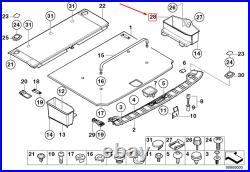 OEM BMW 5 Touring E39 Droit Coffre Plateau 51478187266 8187266 Véritable 99-03
