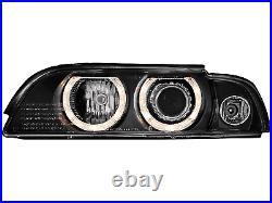 Phares Angel Eyes pour BMW Série 5 E39 Berline Touring 09.1995-06.2003 Xenon Lo