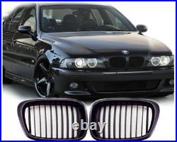 Pour BMW 5er E39 Soude Touring Calandre Naseaux Sport Grille Noir Mat 1995-20