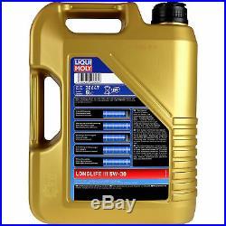 Sketch D'Inspection Filtre Liqui Moly Huile 7L 5W-30 pour BMW 5er de Touring