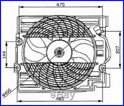 Tout Neuf Radiateur Ventilateur pour BMW 5 Touring (E39) 530 I