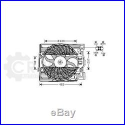 Ventilateur Refroidissement Moteur de Radiateur pour BMW Série 5 E39 Touring