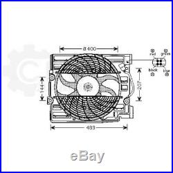 Ventilateur Refroidissement Moteur de Radiateur pour BMW Série 5 Touring